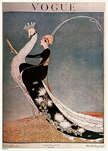 Vintage Vogue Cover April 1918 Poster Art Print 30x40cm