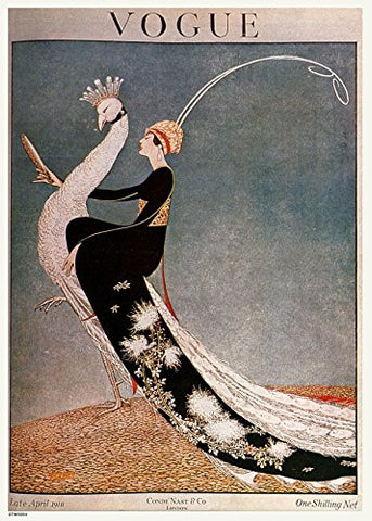 Vintage Vogue Cover April 1918 Poster Art Print - On the Wall Art Print Posters & Gifts