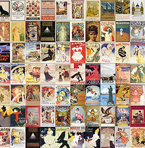 "Vintage Posters 14x14cm Greetings Card ""Blank Inside"" - On the Wall Art Print Posters & Gifts"