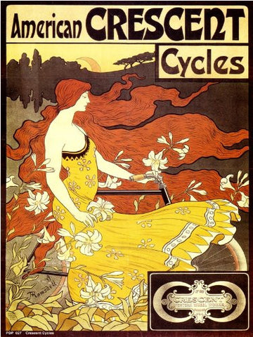 Art nouveau Poster Art Print by Alphonse Mucha Crescent Cycles 40x30cm (PDP 027) - On the Wall Art Print Posters & Gifts