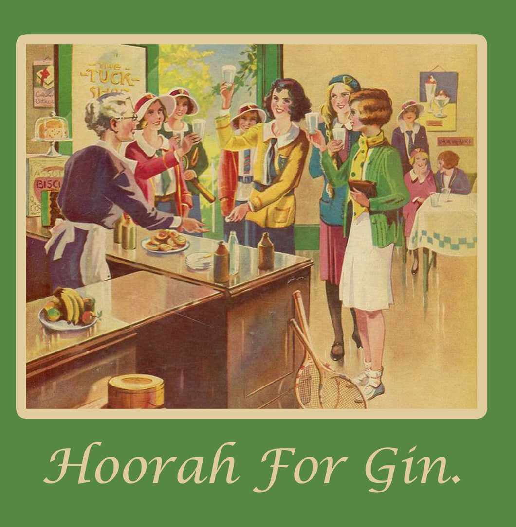 Hoorah for Gin Greetings Card 14x14cm