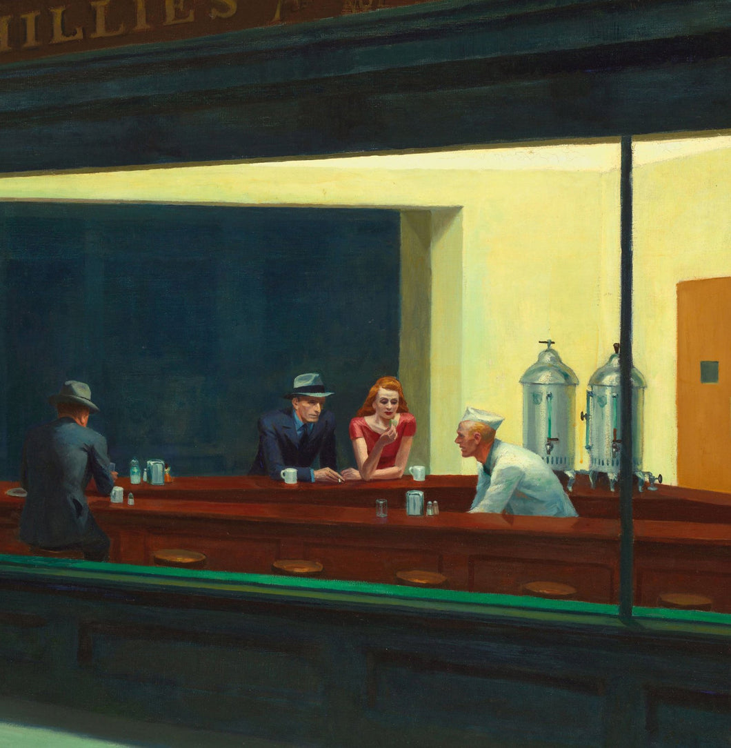 Edward Hopper - Nighthawks Greetings Card 14x14cm