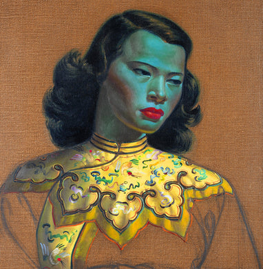 Vladimir Tretchikoff - Chinese Girl Greetings Card 14x14cm