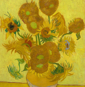 Vincent Van Gogh - Sunflowers Greetings Card 14x14cm