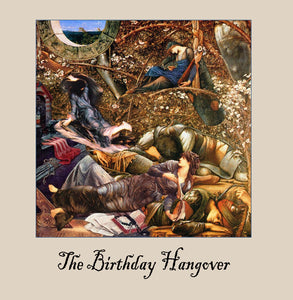 The birthday hangover Greetings Card 14x14cm