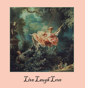live laugh love Greetings Card 14x14cm