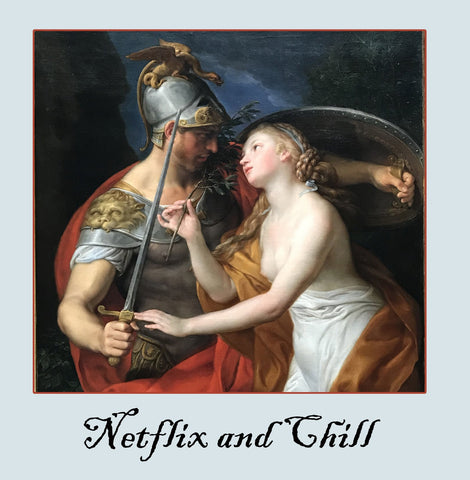 netflix and chill Greetings Card 14x14cm
