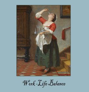 Work life Greetings Card 14x14cm