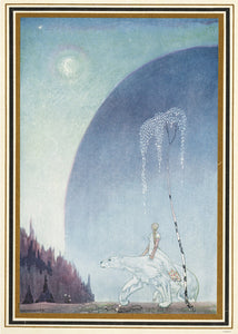 Kay Nielson, Illustration, Enchanted, Medieval, Fantasy, White Bear Art Print Poster 50x70cm