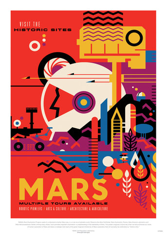 Mars, The Great Voyage, Space Travel, Tourism NASA, Solar System, Planets Art Print Poster 50x70cm