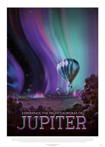 Jupiter, The Great Voyage, Space Travel, Tourism NASA, Solar System, Planets Art Print Poster 50x70cm
