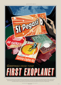 PEg51, The Great Voyage, Space Travel, Tourism NASA, Solar System, Planets Art Print Poster 50x70cm