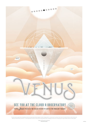 Venus, The Great Voyage, Space Travel, Tourism NASA, Solar System, Planets Art Print Poster 50x70cm