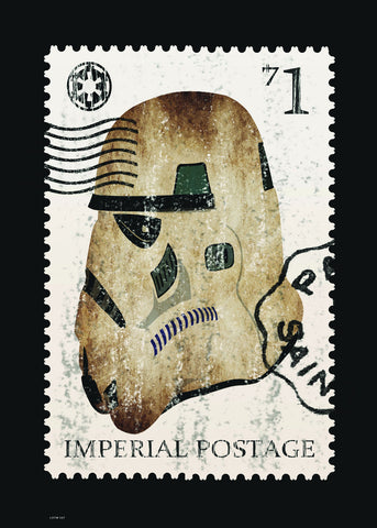 Storm Trooper, Star Wars Stamp Art Print Poster 50x70cm
