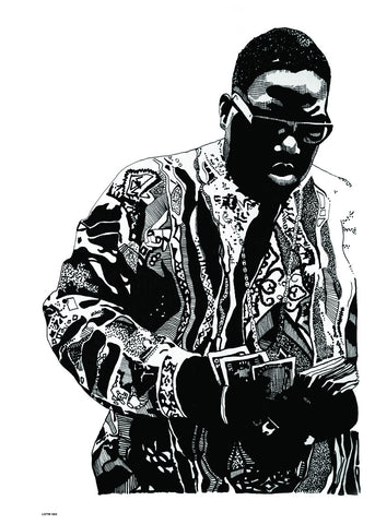 Notorious BIG, Music Idol Iconic Rap Artist Art Print Poster 50x70cm
