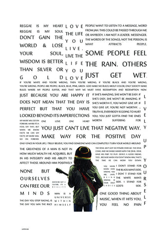 Bob Marley, Music Idol Iconic Reggae Rocksteady Roots Rock Artist Art Print Poster 50x70cm