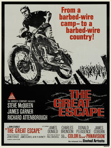 Great escape Steve Mqueen 30x40cm Art Print Poster