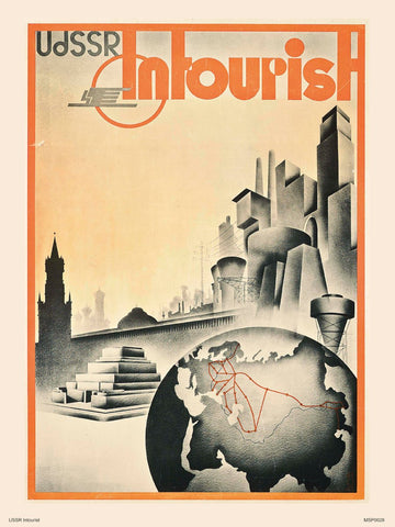 USSR in tourist Art Print Poster 30x40cm