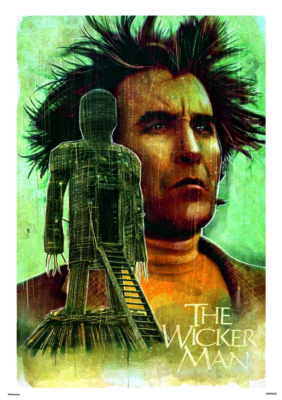 Wickerman Art Print Poster 30x40cm