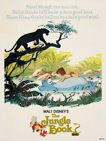 Jungle Book Retro Vintage 30x40cm Art Print Poster