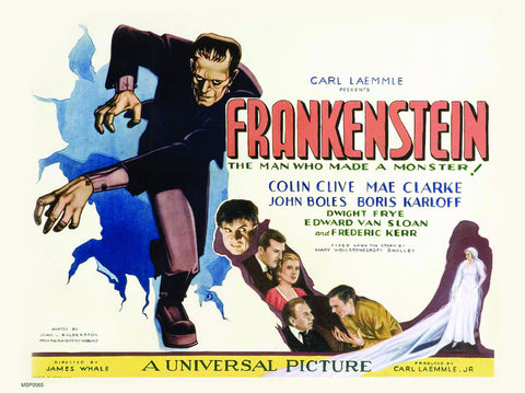 Frankinstien Vinatge Movie Film 30x40cm Poster Art Print