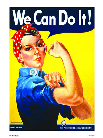 We Can Do It War propoganda 30x40cm Art Poster Print