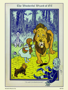 Wonderful Wizard of Oz book cover 30x40cm Art Poster Print