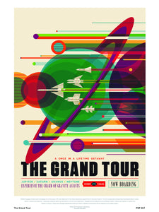 The Grand Tour Nasa Space exploration 30x40cm Art Poster Print