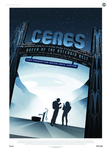 Ceres Nasa Space exploration 30x40cm Art Poster Print