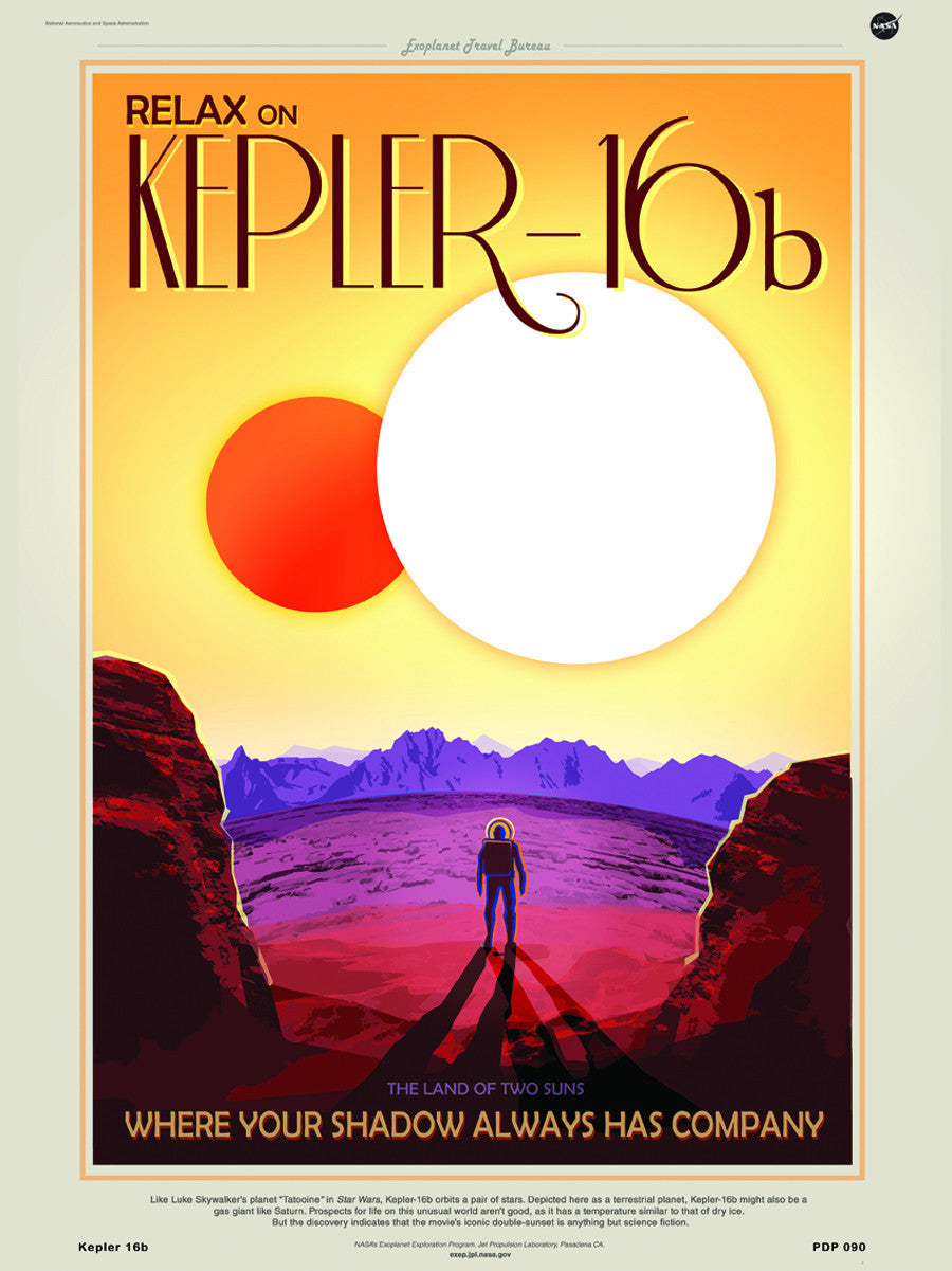 Kepler 16b Nasa Space exploration 30x40cm Art Poster Print