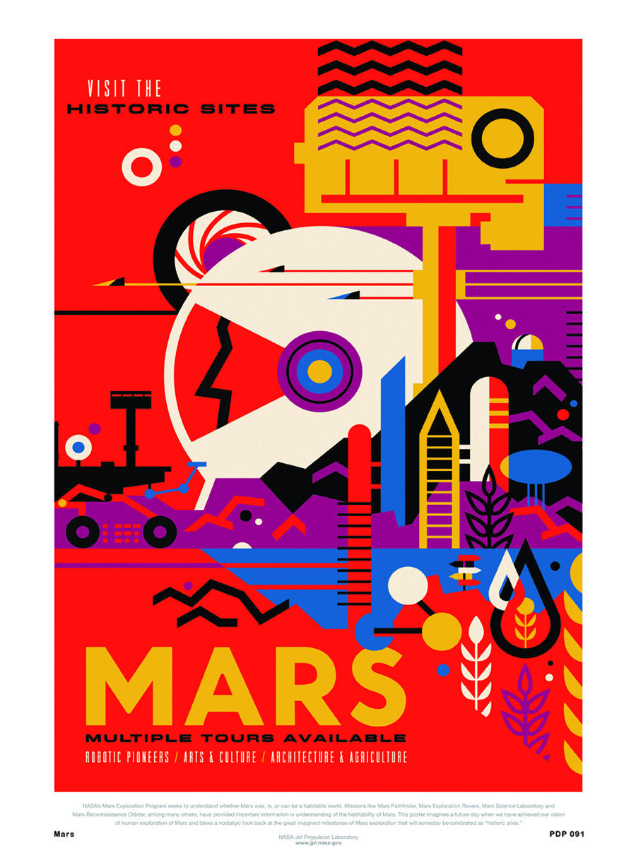 Mars Nasa Space exploration 30x40cm Art Poster Print