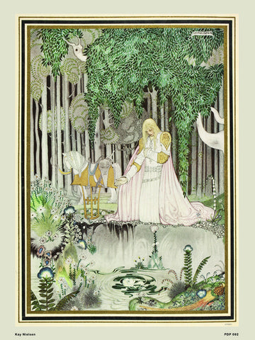 Kay Nielsen The Lassie and the Godmother 30x40cm Art Poster Print