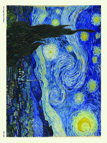 Van Gogh Starry Night 30x40cm Art Poster Print