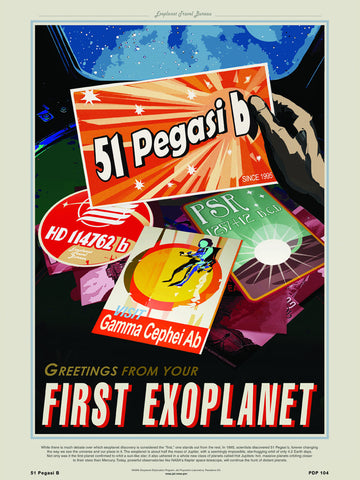 51 Pegasi B Nasa Space exploration tourist 30x40cm Art Poster Print