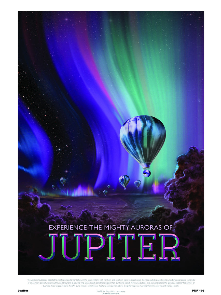 Jupiter Nasa Space exploration 30x40cm Art Poster Print