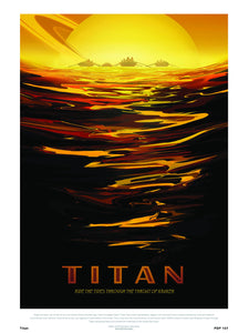 Titan Nasa Space exploration 30x40cm Art Poster Print