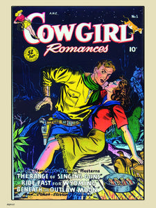 Cowgirl Romances No1 Comic Poster Art Print