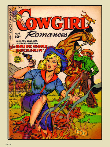 Cowgirl Romances No4 Comic Poster Art Print