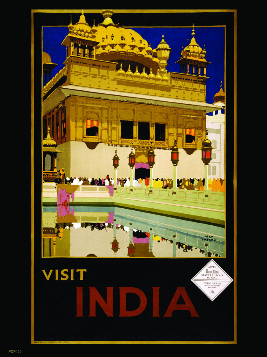 Visit India Tourisum 30x40cm Art Poster Print