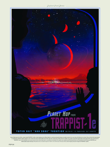 Trappist-1 system  Nasa Space exploration tourist 30x40cm Art Poster Print