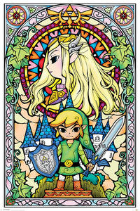 THE LEGEND OF ZELDA (STAINED GLASS)