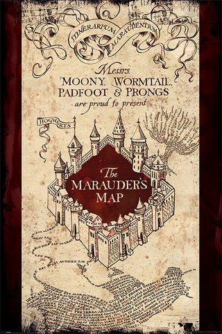 HARRY POTTER (THE MARAUDERS MAP) MAXI POSTER