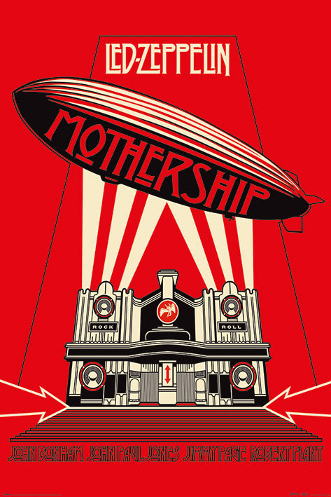 Led Zeppelin (Mothership Red) Poster 61x91.5cm