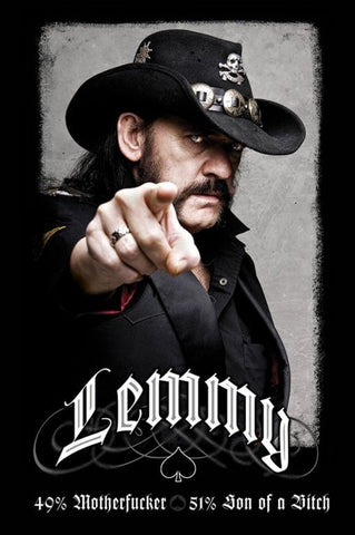 Lemmy Moterhead Poster (61x91.5cm) - On the Wall Art Print Posters & Gifts