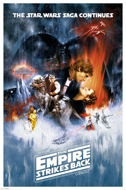 Star Wars The Empire Strikes Back (One Sheet) Poster (61x91.5cm) - On the Wall Art Print Posters & Gifts