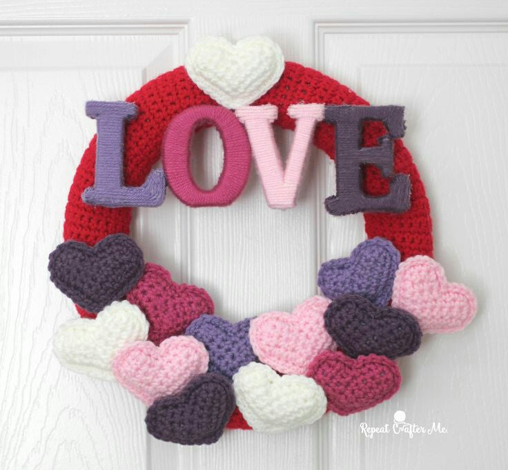 Ideas originales de corazones en crochet