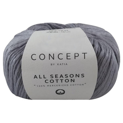 Hilaza All Seasons Cotton Concept, Marca Katia, Madeja con 50g