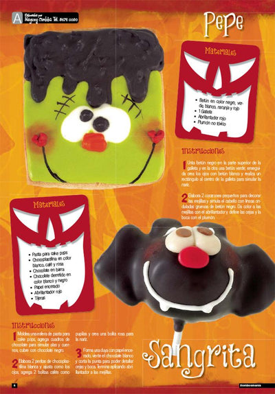 Bombonmania 43 - Ideas de Halloween Cake Pop y Cup Cakes- Formato Digital