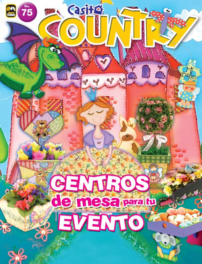 Casita Country 75 - Centros de mesa para tu evento - Formato Digital