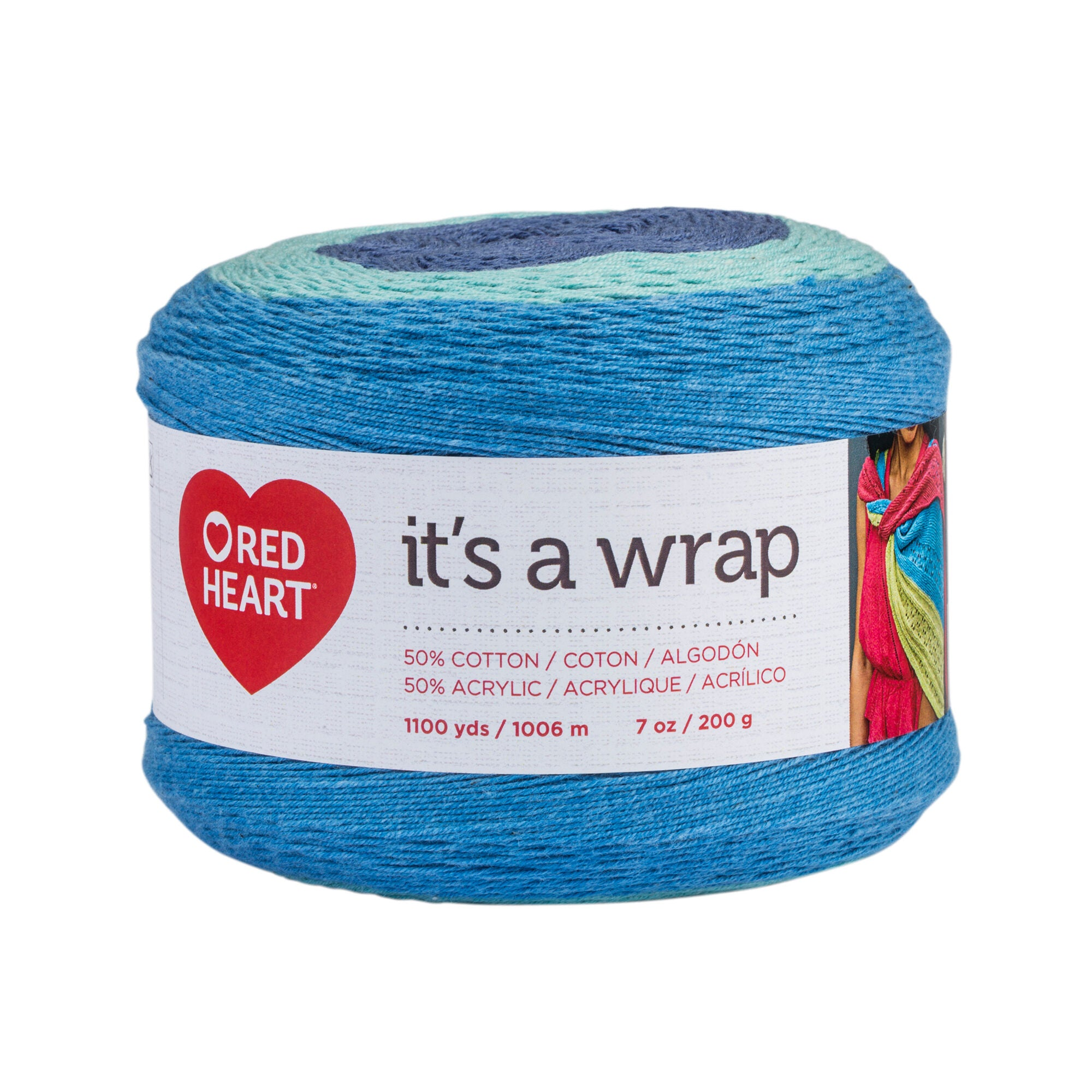 Red Heart It´s a Wrap , Madeja de 200g , 1006mts.